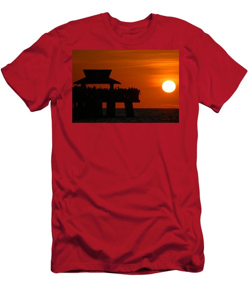 Orange Sunset In Naples Men's T-Shirt (Athletic Fit)