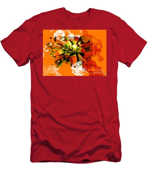 Orange Tropic Men's T-Shirt (Slim Fit) by Deborah Nakano