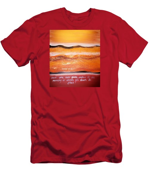 Men's T-Shirt (Athletic Fit) featuring the painting Orders To The Morning by Winsome Gunning