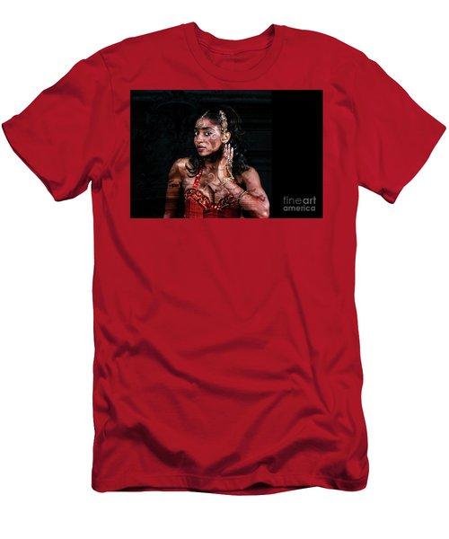 Men's T-Shirt (Athletic Fit) featuring the digital art Orient Meets Baroque by Silva Wischeropp