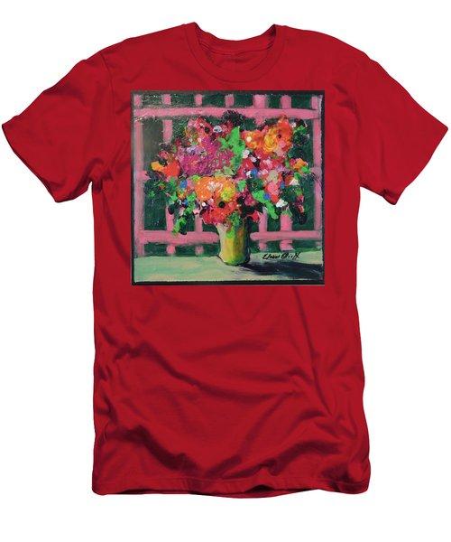 Original Bouquetaday Floral Painting By Elaine Elliott 59.00 Incl Shipping 12x12 On Canvas Men's T-Shirt (Slim Fit) by Elaine Elliott