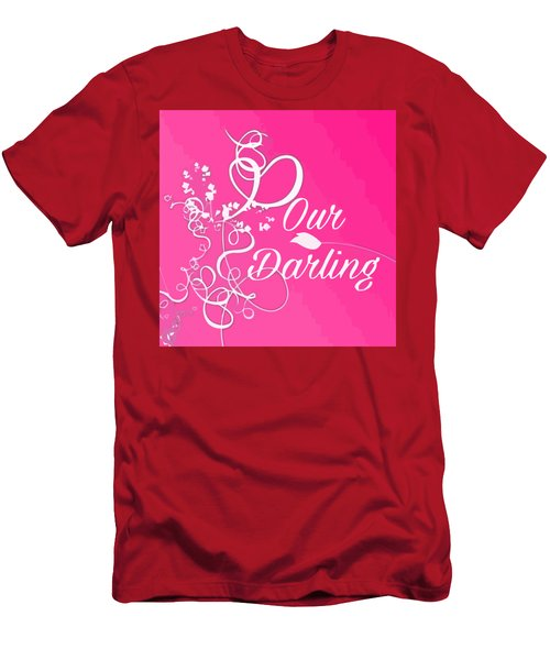Our Darling On Pink Background Men's T-Shirt (Athletic Fit)