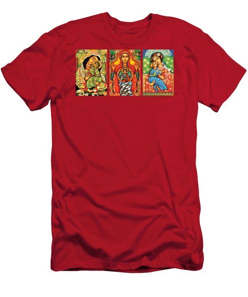 Madonnas With Child Men's T-Shirt (Slim Fit) by Eva Campbell