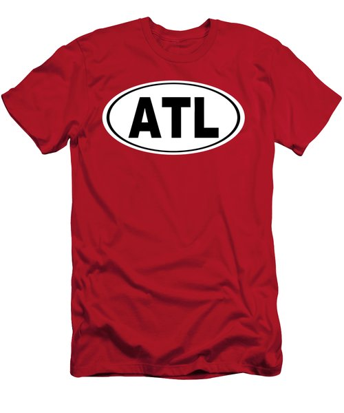 Men's T-Shirt (Slim Fit) featuring the photograph Oval Atl Atlanta Georgia Home Pride by Keith Webber Jr