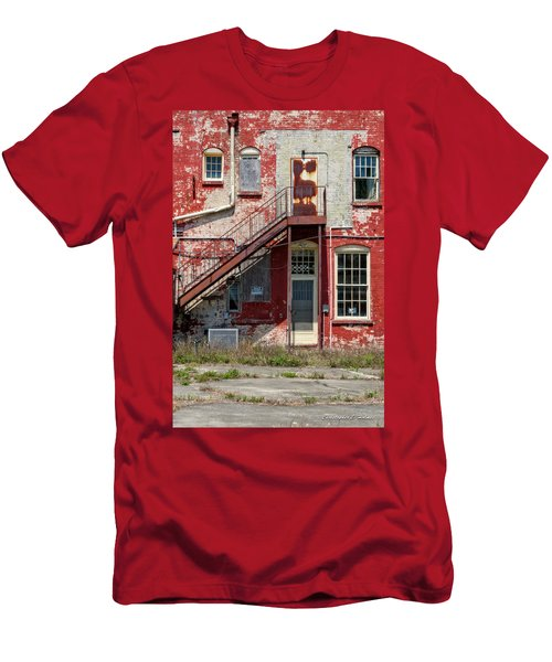 Men's T-Shirt (Slim Fit) featuring the photograph Over Under The Stairs by Christopher Holmes