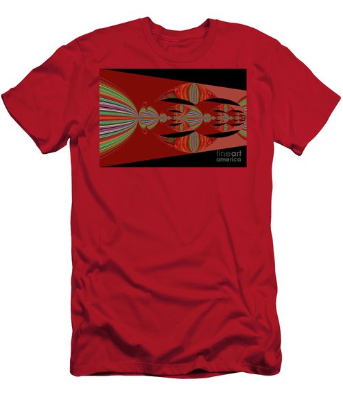 Red Abstract Ovs 26 Men's T-Shirt (Athletic Fit)