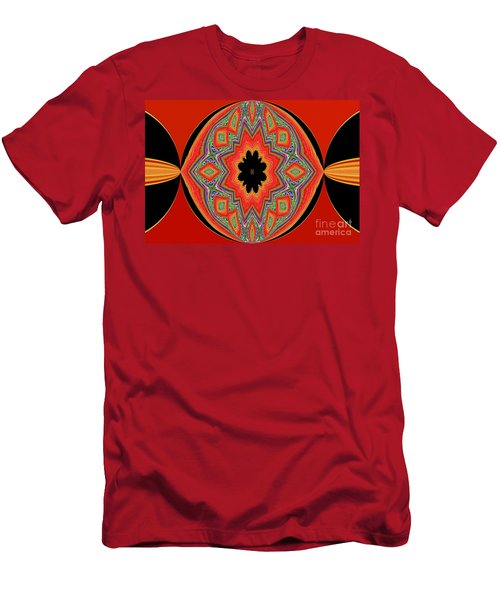 Unique And Colorful Orange Black Yellow Design Men's T-Shirt (Athletic Fit)