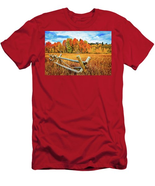 Oxbow Bend Fall Color Men's T-Shirt (Athletic Fit)