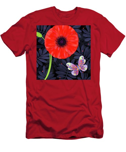 P Is For Pretty Poppy Men's T-Shirt (Athletic Fit)