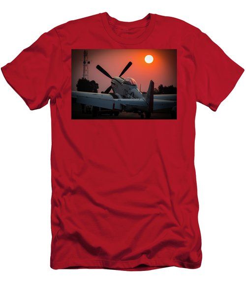 P51 Sunset Men's T-Shirt (Athletic Fit)