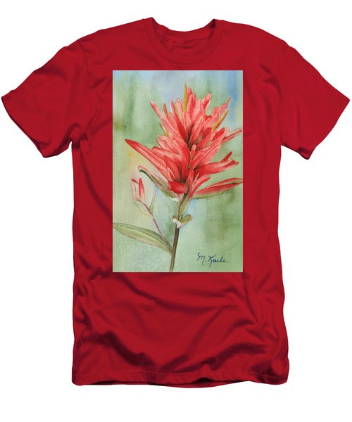 Paintbrush Portrait Men's T-Shirt (Athletic Fit)