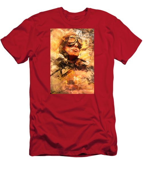 Men's T-Shirt (Athletic Fit) featuring the photograph Painted Pilots At War by Jorgo Photography - Wall Art Gallery