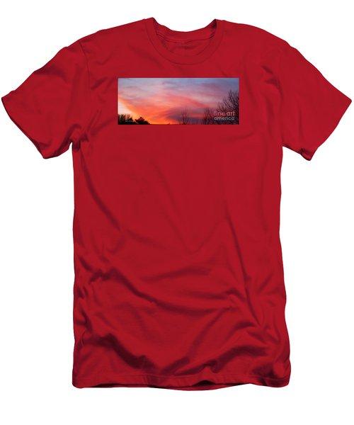 Panorama Sunset  Men's T-Shirt (Slim Fit) by Yumi Johnson