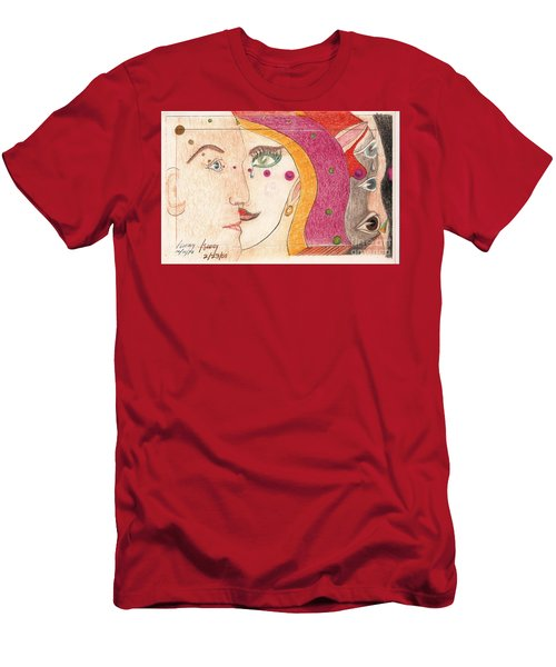Paranoia Men's T-Shirt (Slim Fit) by Rod Ismay
