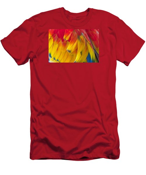 Men's T-Shirt (Athletic Fit) featuring the photograph Parrot Feathers by Ken Barrett