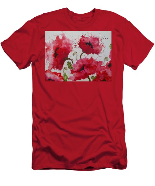 Party Poppies Men's T-Shirt (Athletic Fit)