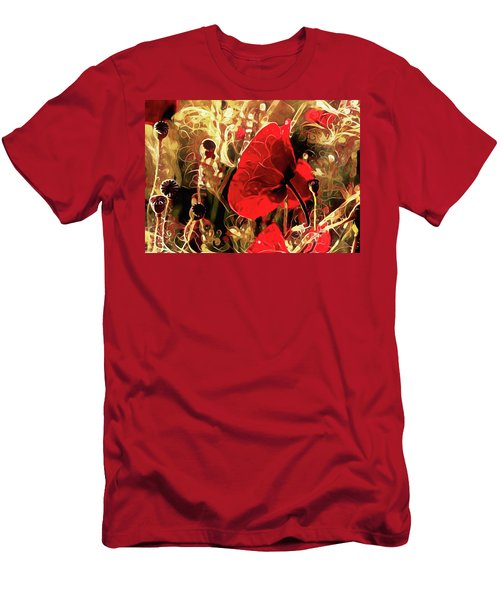 Passionate About Poppies Men's T-Shirt (Athletic Fit)