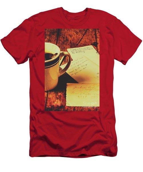 Past Postcard Preoccupations  Men's T-Shirt (Athletic Fit)