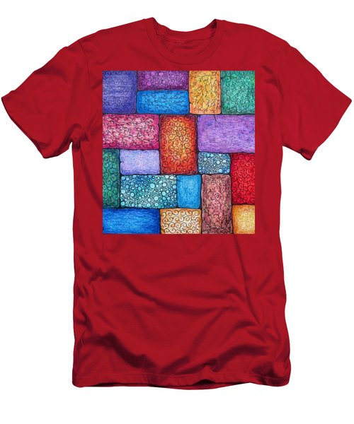 Patchwork Men's T-Shirt (Athletic Fit)