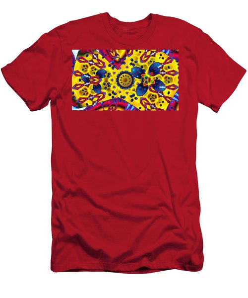 Pattern 2 Intersect Men's T-Shirt (Slim Fit) by Ron Bissett