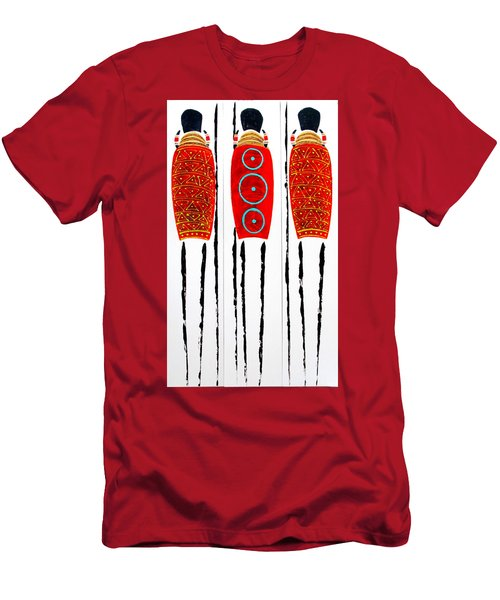 Patterned Masai Triptych Men's T-Shirt (Athletic Fit)