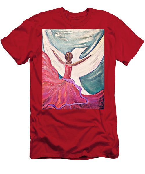 Men's T-Shirt (Athletic Fit) featuring the painting Fortress by Jessica Eli