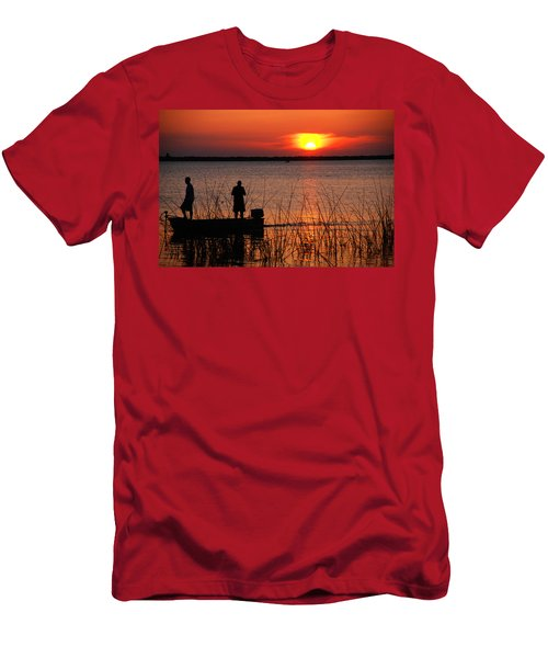 Peace Over The Water Men's T-Shirt (Athletic Fit)