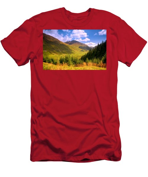 Peaceful Sunny Day In Mountains. Rest And Be Thankful. Scotland Men's T-Shirt (Athletic Fit)