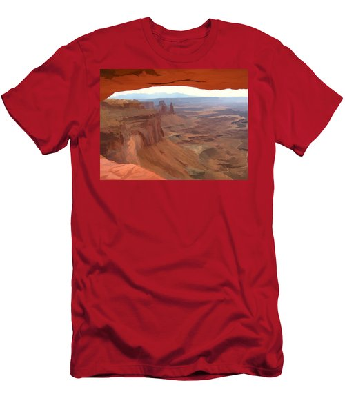 Peering Out 2 Watercolor Men's T-Shirt (Athletic Fit)
