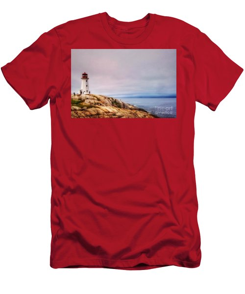 Peggys Point Lighthouse Men's T-Shirt (Athletic Fit)