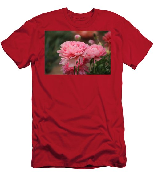 Peony Pink Ranunculus Closeup Men's T-Shirt (Athletic Fit)