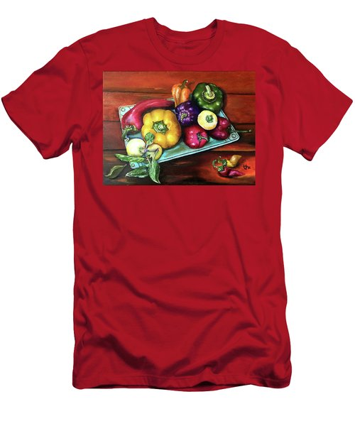 Peppers And A Turquoise Tray Men's T-Shirt (Athletic Fit)