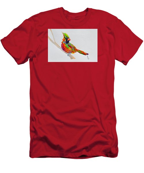 Perch With Pride Men's T-Shirt (Slim Fit) by Beverley Harper Tinsley