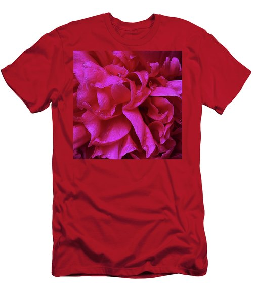 Perfectly Pink Peony Petals Men's T-Shirt (Athletic Fit)