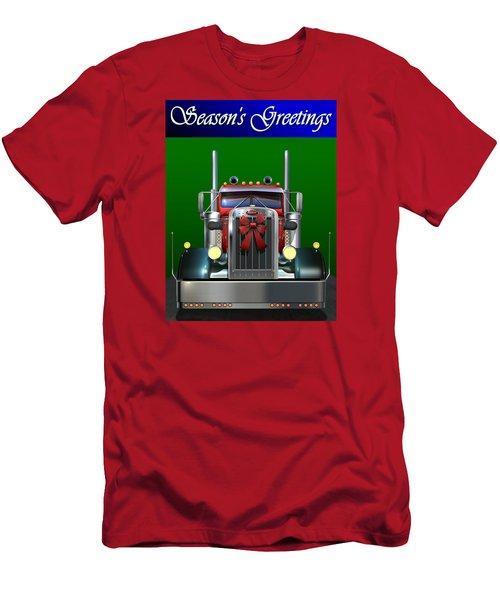 Pete Season's Greetings Men's T-Shirt (Slim Fit) by Stuart Swartz