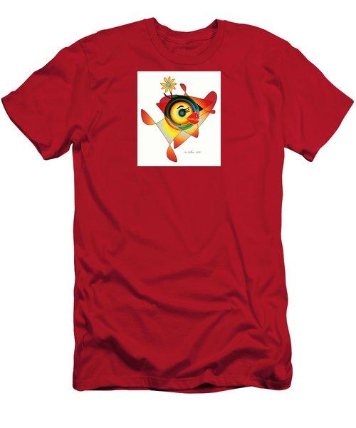 Petunia Parrot Men's T-Shirt (Slim Fit) by Iris Gelbart