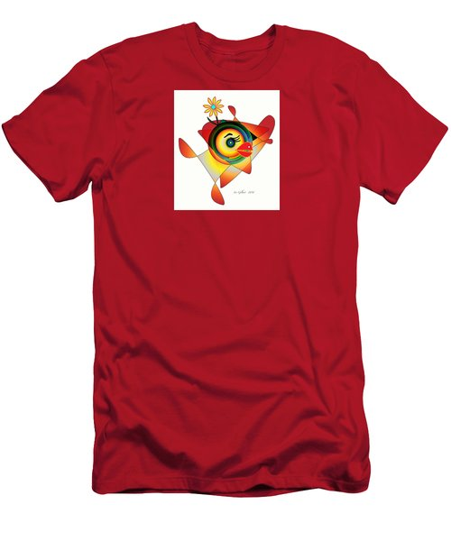 Petunia Parrot Men's T-Shirt (Athletic Fit)