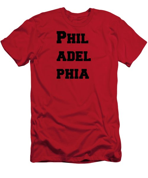 Philadelphia In Pink Men's T-Shirt (Athletic Fit)