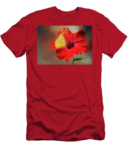 Phoebis Philea On A Hibiscus Men's T-Shirt (Athletic Fit)