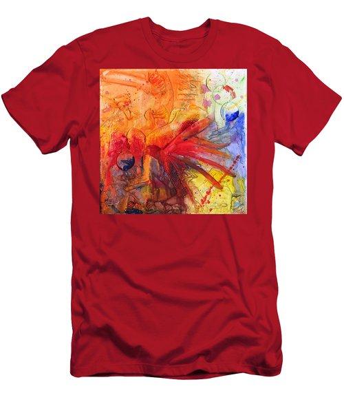 Phoenix Hummingbird Men's T-Shirt (Slim Fit) by Phil Strang