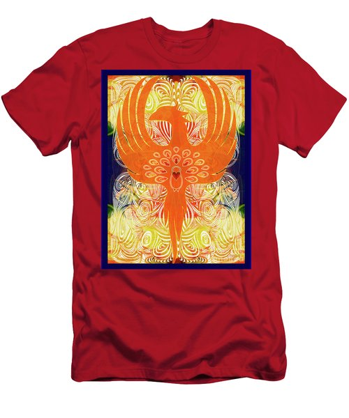 Phonix Rising Abstract Healing Art By Omashte Men's T-Shirt (Athletic Fit)