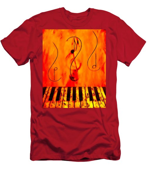 Piano Play Men's T-Shirt (Athletic Fit)