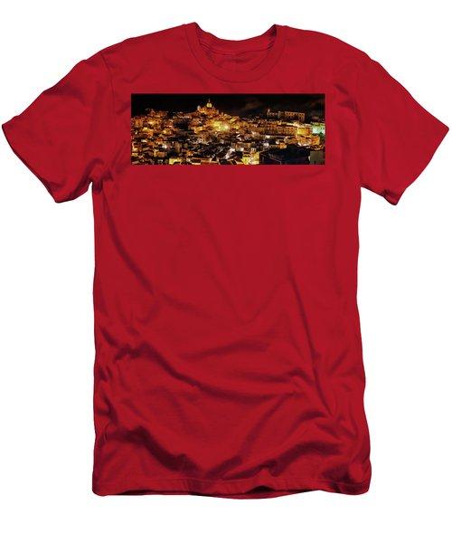Piazza Armerina At Night Men's T-Shirt (Slim Fit) by Patrick Boening