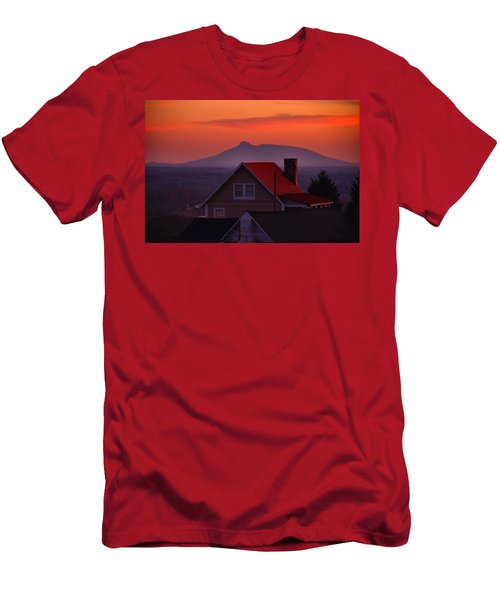 Pilot Sunset Overlook Men's T-Shirt (Slim Fit) by Kathryn Meyer