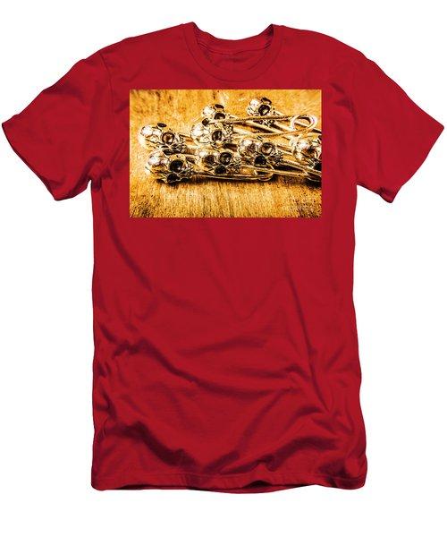 Pin Head Skeleton Art Men's T-Shirt (Athletic Fit)