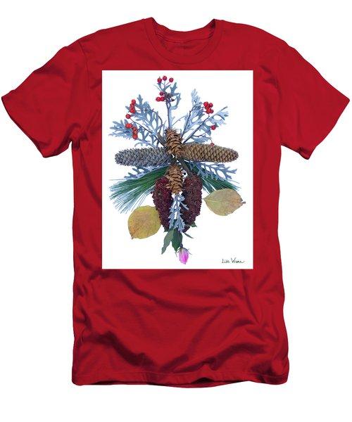 Men's T-Shirt (Slim Fit) featuring the digital art Pine Cone Bouquet by Lise Winne