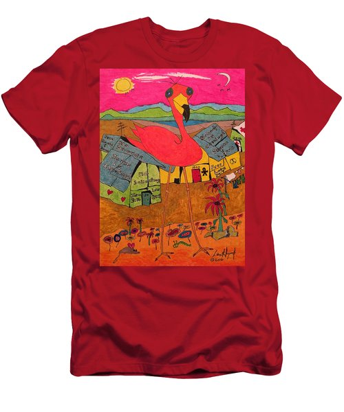 Pink Flamingo Camp Men's T-Shirt (Athletic Fit)