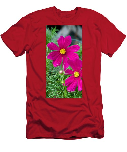 Pink Flower Men's T-Shirt (Slim Fit) by Michael Bessler