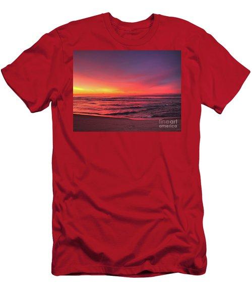 Pink Lbi Sunrise Men's T-Shirt (Athletic Fit)