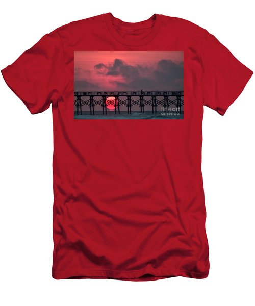 Pink Pier Sunrise Men's T-Shirt (Athletic Fit)